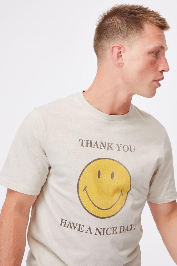 Tbar Collab Pop Culture T-Shirt, LCN SMI BONE/SMILEY-THANK YOU