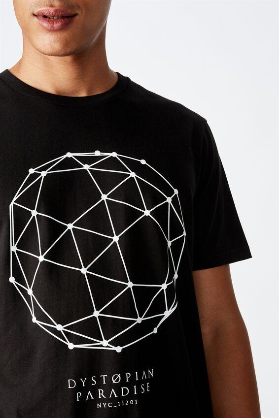 Tbar Street T-Shirt, BLACK/DYSTOPIA