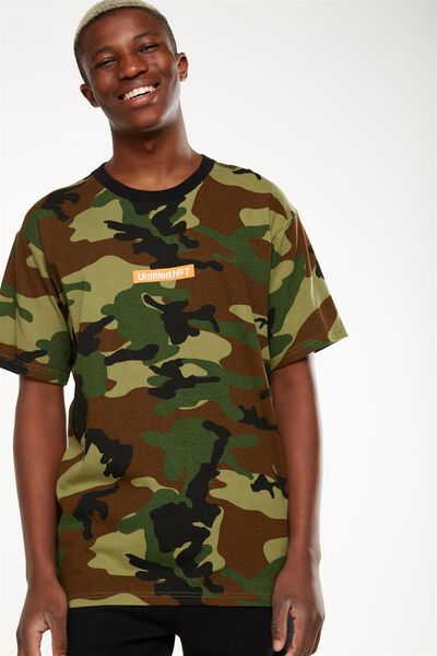 Downtown Loose Fit Tee, SPICE CAMO/UNTITLED NO 7