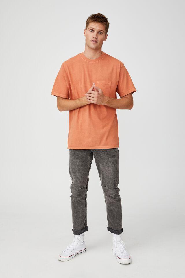Washed Pocket T-Shirt, TERRACOTTA