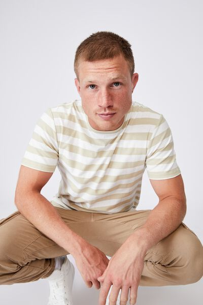 Graduate T-Shirt, PALE SAND/WHITE 50/50 STRIPE