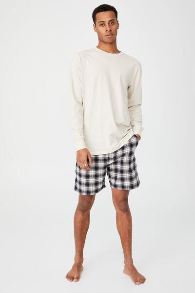 Organic Sleep Jersey Long Sleeve T-Shirt, BONE