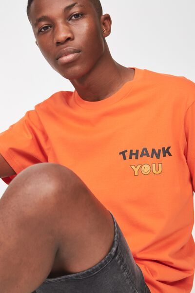 Tbar Tee 2, MANDARIN RED/THANK YOU