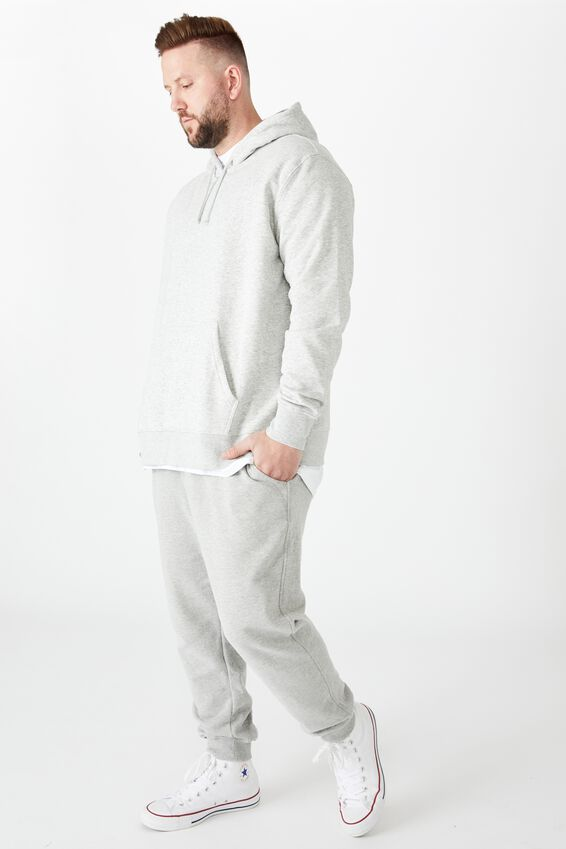 Bg Essential Fleece Pullover, LIGHT GREY MARLE