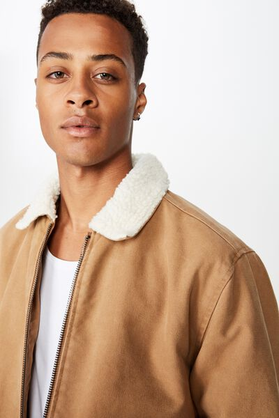Sherpa Trucker Jacket, TAN