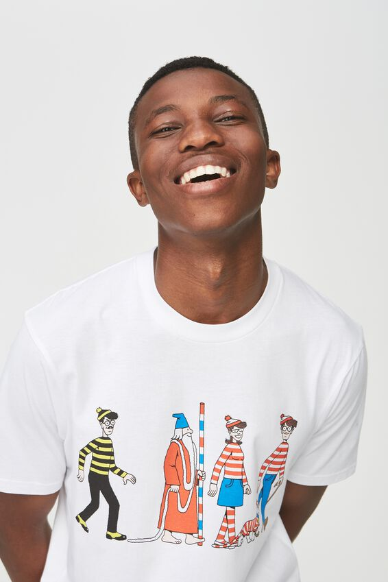 Tbar Collaboration Tee, LC SK8 WHITE/WHERES WALLY - CAST