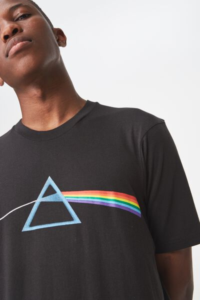 Tbar Collaboration Tee, LC SK8 WASHED BLACK/PINK FLOYD - TRIANGLE
