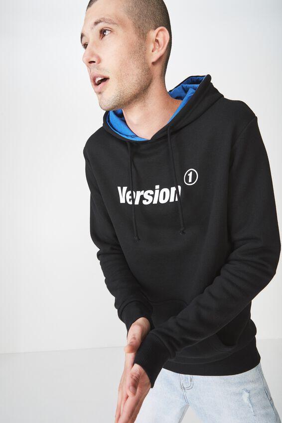 Fleece Pullover 2, BLACK/BLUE DELIGHT/VERSION 1 ELECTRIC