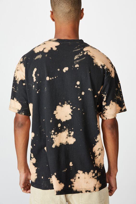 Special Edition T-Shirt, LCN NFL BLACK OAKLAND RAIDERS - BLEACH SPRAY