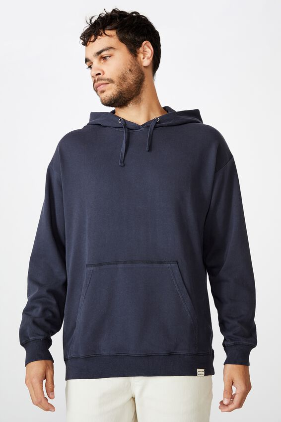 Pigment Dyed Oversized Pullover, TRUE NAVY