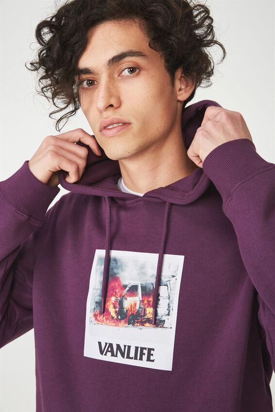 Fleece Pullover 2, PLUM PURPLE/VANLIFE