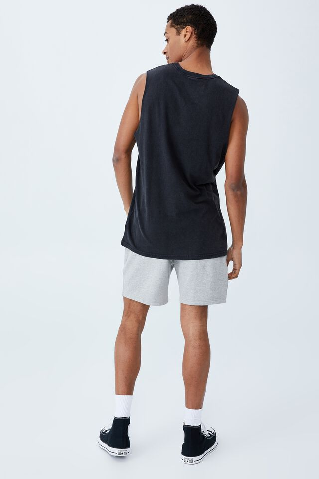 Active Collab Muscle, LCN NFL WASHED BLACK/NFL - RAIDERS SHIELD