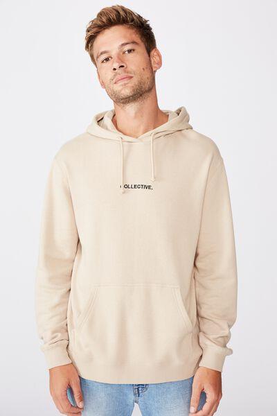 Fleece Pullover 2, STONE CLAY/COLLECTIVE