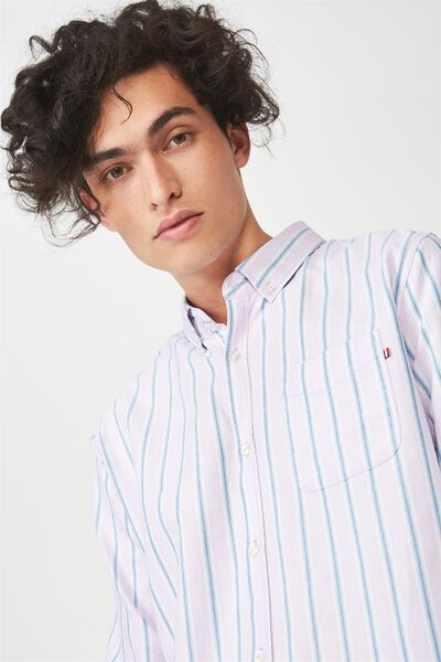 Brunswick Shirt 3, MAUVE BLUE STRIPE