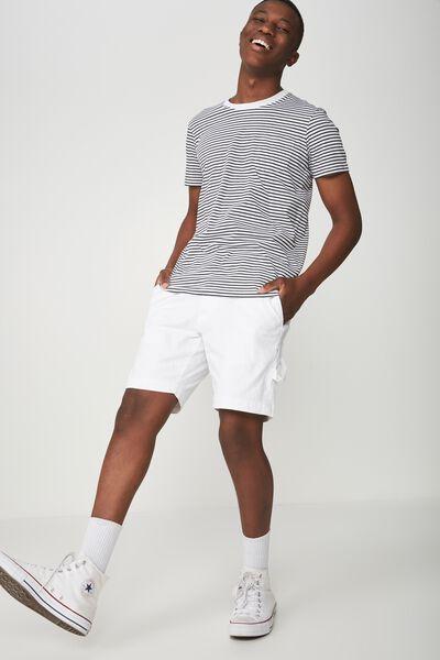 Vintage Straight Short, WHITE DENIM CARPENTER