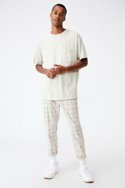 Oxford Trouser, ECRU CHECK