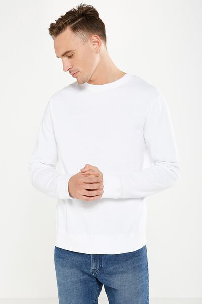 Summer Crew Fleece, WHITE