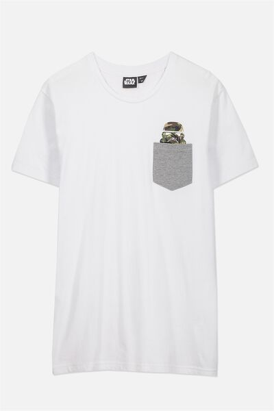 Textured Pocket Tee, LC WHITE/LIGHT GREY MARLE POCKET/CAMO STORMTROOPER
