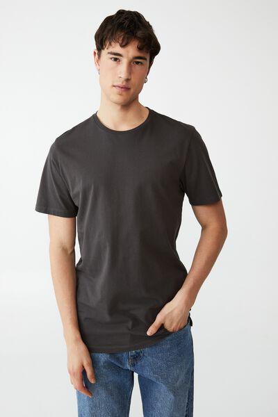 Organic Longline T-Shirt, FADED SLATE