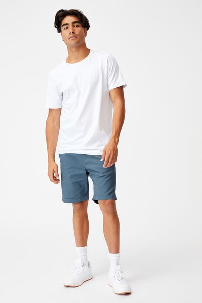 Washed Chino Short, PIGMENT STORM BLUE