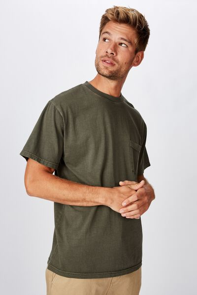 Washed Pocket Tee, WASHED KHAKI