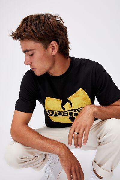 Tbar Collab Music T-Shirt, LCN LN BLACK/WU TANG-LOGO