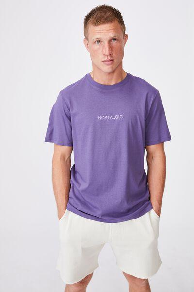 Tbar Text T-Shirt, GRAPE/NOSTALGIC