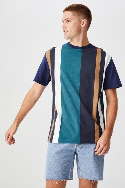 Downtown T-Shirt, INDIGO PREP STRIPE