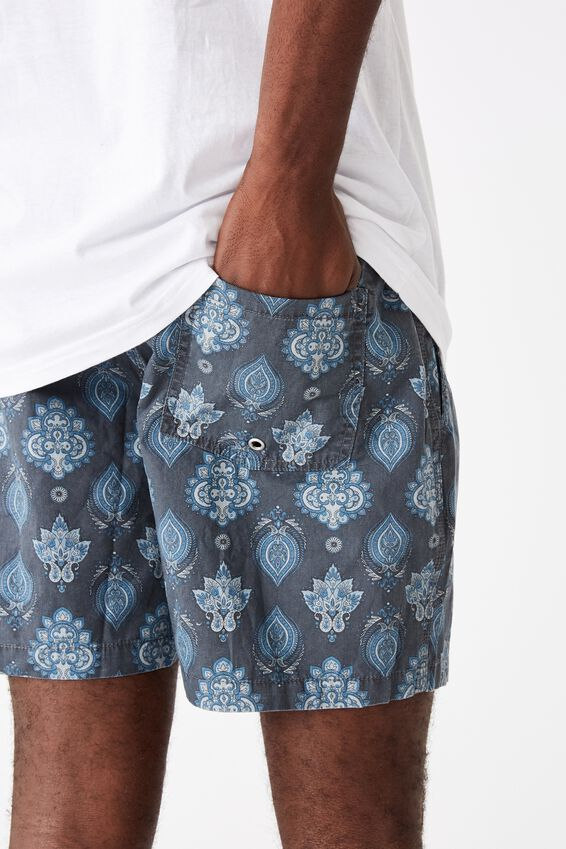 Hoff Short, BLACK/BLUE PAISLEY