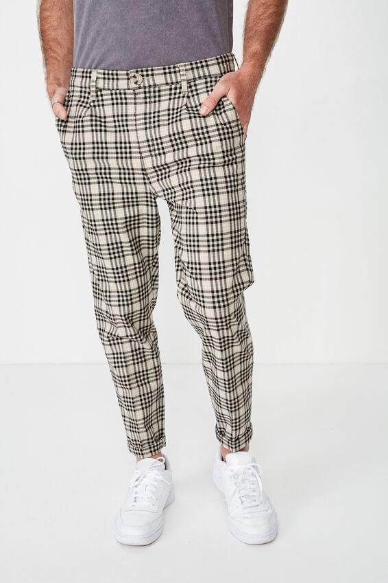 Oxford Trouser, BEIGE CHECK