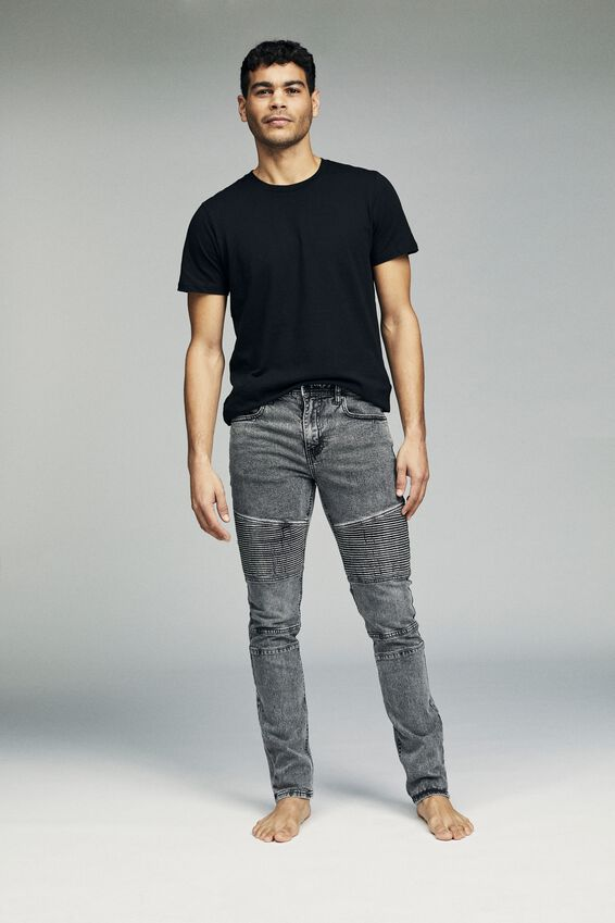 Slim Fit Jean, VINTAGE GREY MOTO