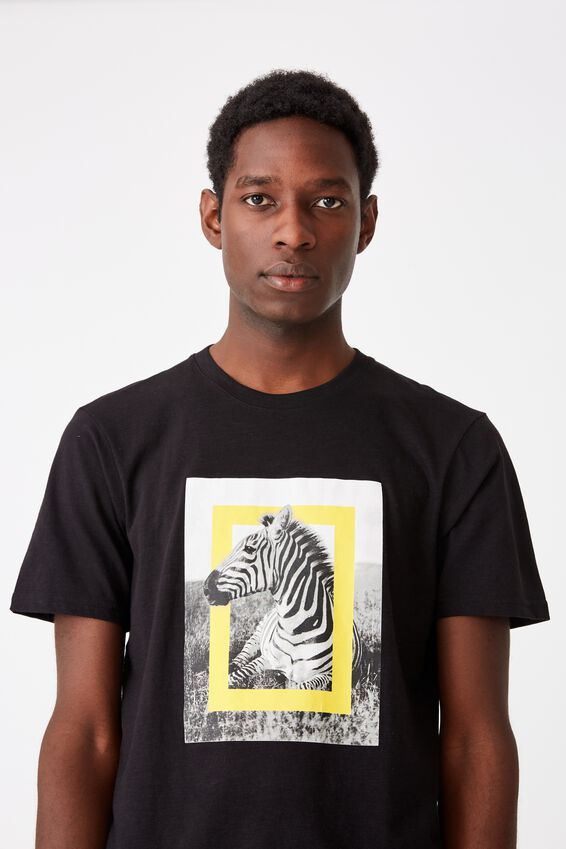 Tbar Collab Pop Culture T-Shirt, LCN NG BLACK/NATIONAL GEOGRAPHIC - ZEBRA