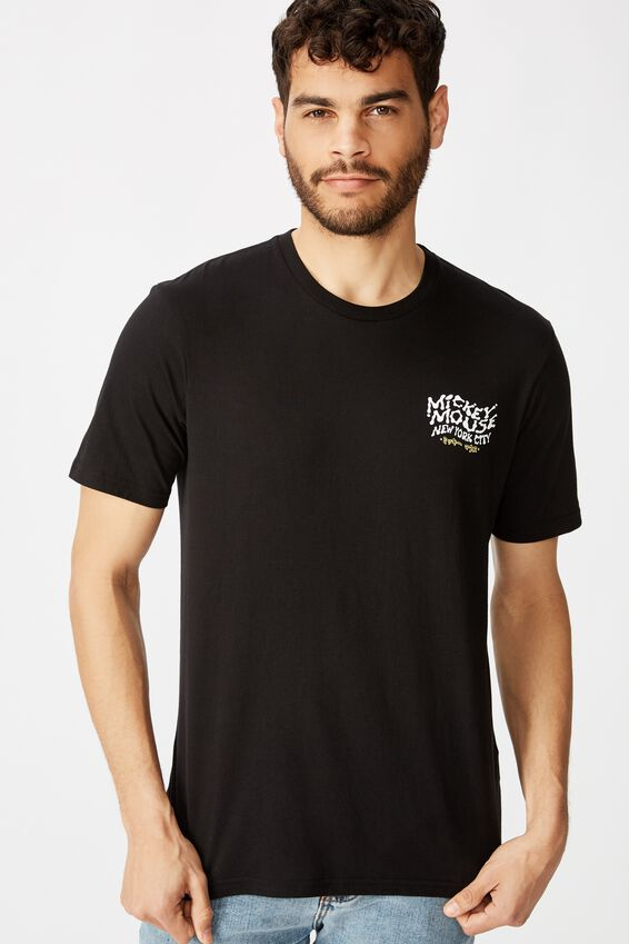 Tbar Collab Character T-Shirt, LCN DIS SK8 BLACK/MICKEY MOUSE - WARPED