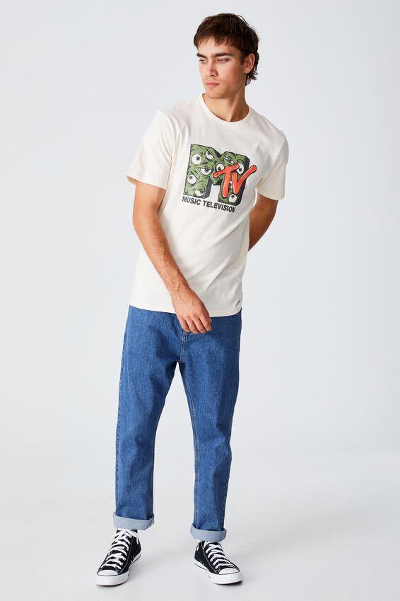 Tbar Collab Pop Culture T-Shirt, LCN MTV CREAM PUFF/MTV - EYEBALL LOGO