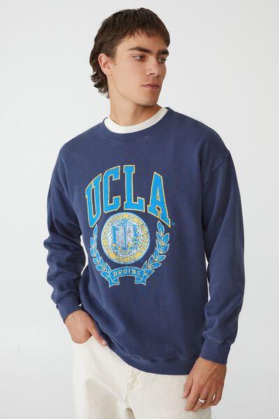 Premium Collab Crew Fleece, LCN UCLA INDIGO / UCLA VINTAGE CREST