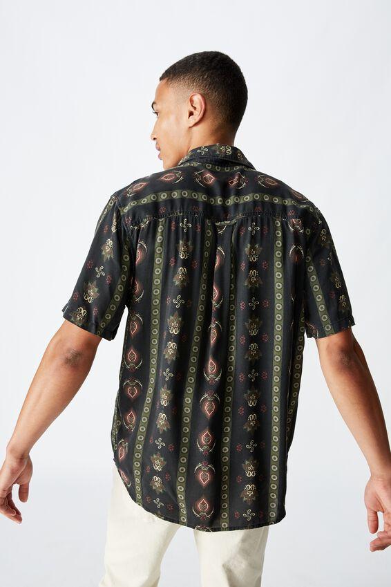 91 Short Sleeve Shirt, VERT PAISLEY