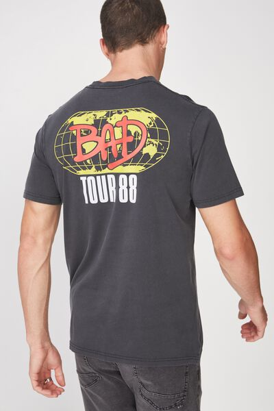 Tbar Collaboration Tee, LC WASHED BLACK/MJ BAD TOUR 88