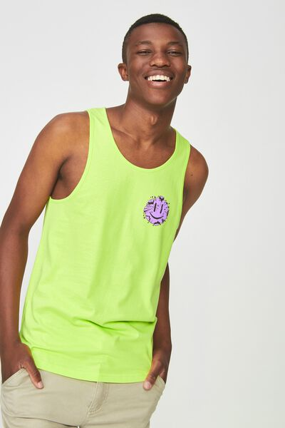 Tbar Anchor Tank, NEON LIME/ITS ALL GOOD