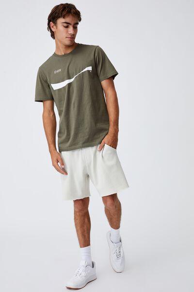Tbar Collab Pop Culture T-Shirt, LCN CC MILITARY/COCA COLA -WAVE LOGO