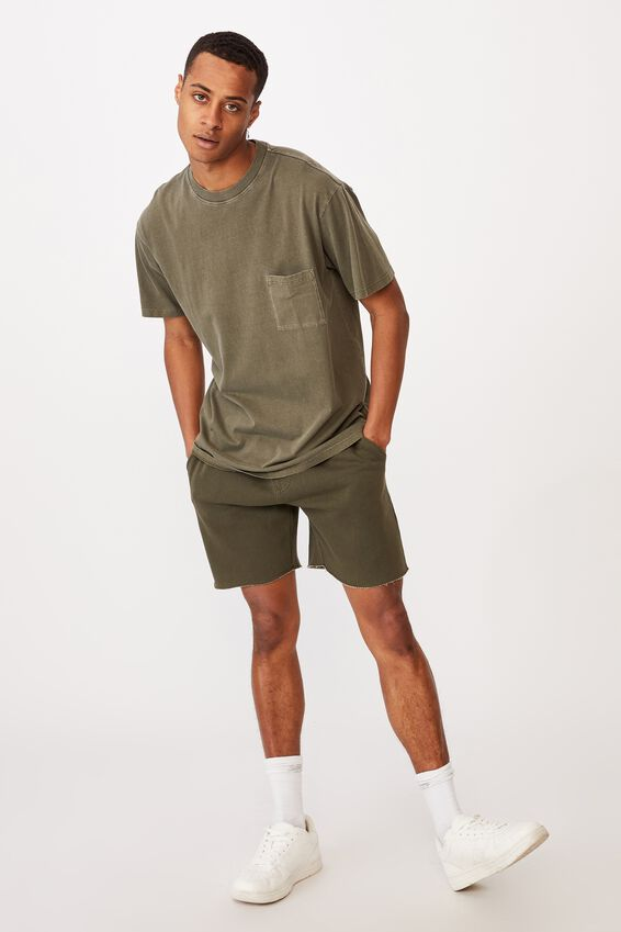 Washed Pocket T-Shirt, MILITARY