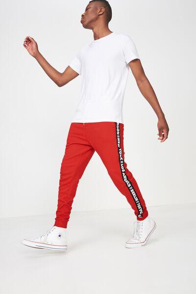 Trippy Slim Trackie, RED / BLACK 5 CITIES