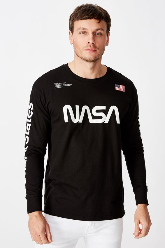 Tbar Collaboration Ls Tee, LCN NAS BLACK/NASA - WORM LOGO