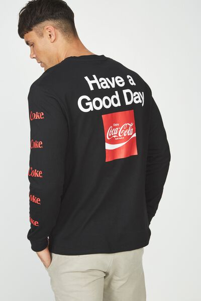 Tbar Collaboration Ls Tee, LC BLACK/COKE - HAVE A GOOD DAY