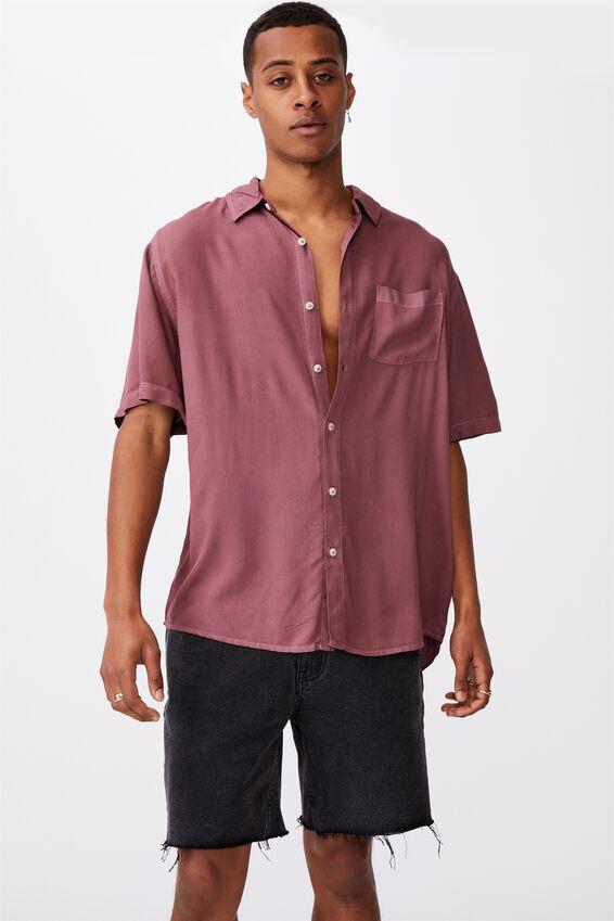 Cuban Short Sleeve Shirt, VINTAGE RED