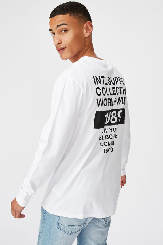 Tbar Long Sleeve, WHITE/COLLECTIVE 1989