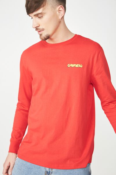 Tbar Collaboration Ls Tee, LC STRONG RED/GARFIELD