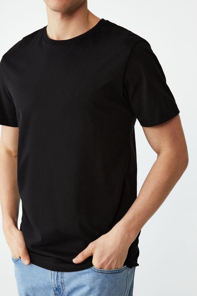 Organic Crew T-Shirt, BLACK