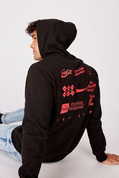 Collab Fleece Pullover, LCN CC BLACK/MIXED COKE ICON