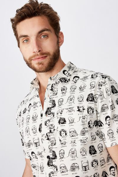 Collaboration Short Sleeve Shirt, STARWARS CAST