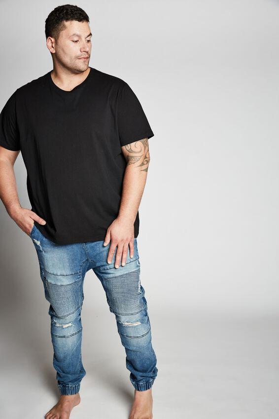 Bg Slim Denim Jogger, LAUNDRY BLUE MOTO + RIPS
